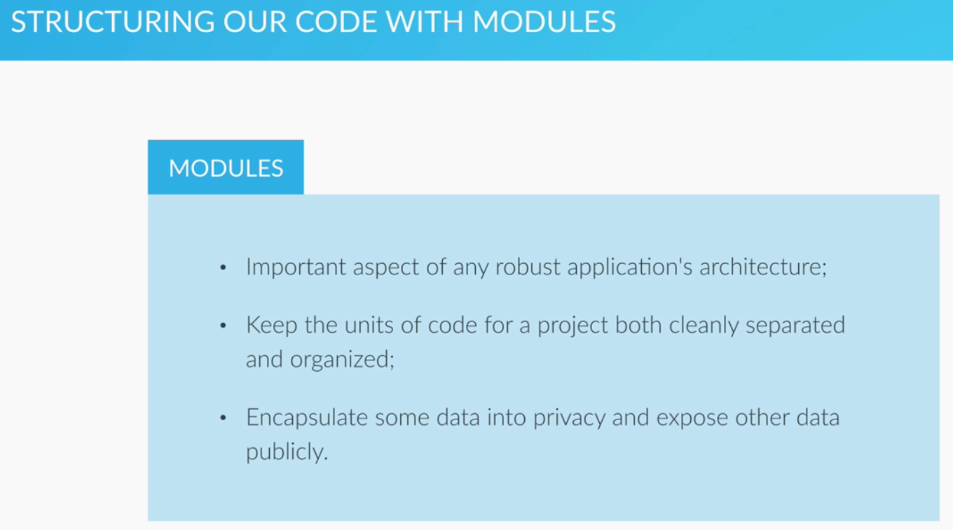 Structuring Code With Modules